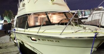 31' Silverton 31 Convertible 1980 Starboard at Night