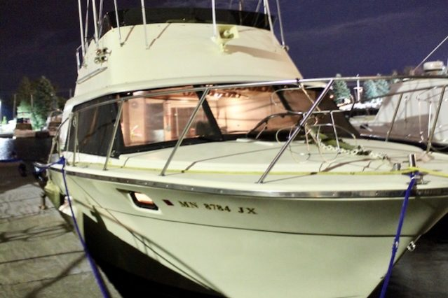 31' Silverton 31 Convertible 1980 Starboard at Night